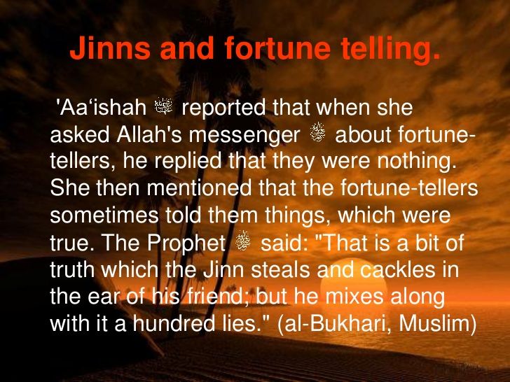 About Fortune Teller in Islam