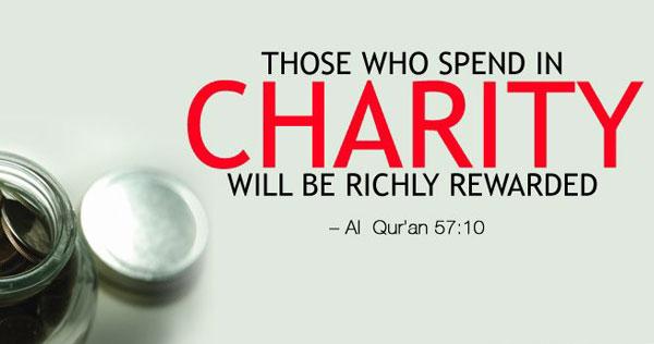 charity in islam hadith