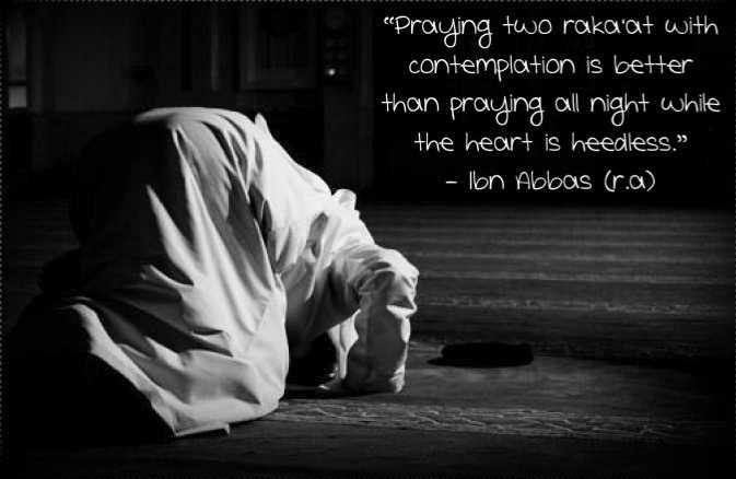 Prayers at night in islam