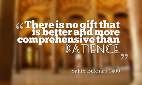 Hadith on Patience