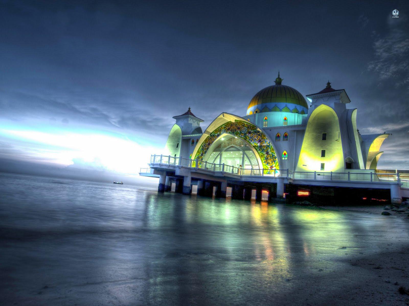 Masjid Selat Melaka in Malacca - Malaysia