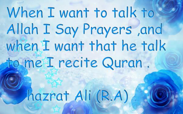 Hazrat Ali (R.A) Quote