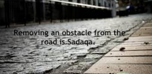 Hadith remove obstacle from road