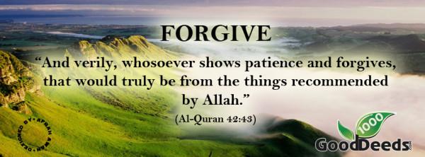 forgive hadith
