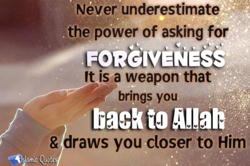 forgiving hadith