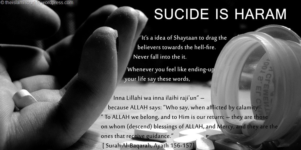 Attempt and commiting Sucide in islam