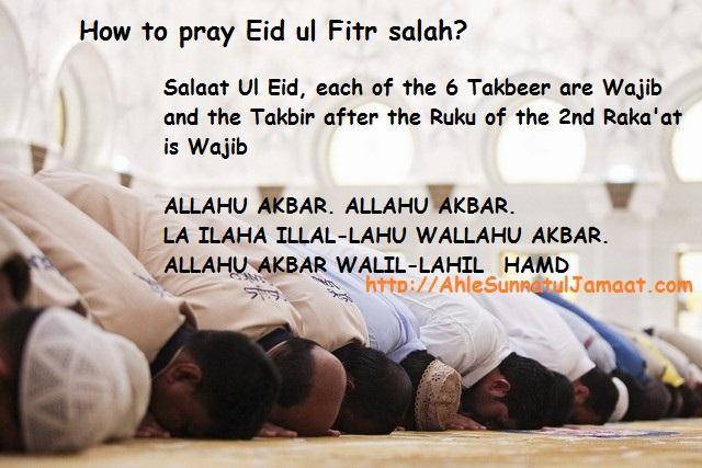how to pray eid ul fitr salah