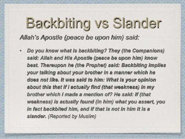 Hadith on Backbiting