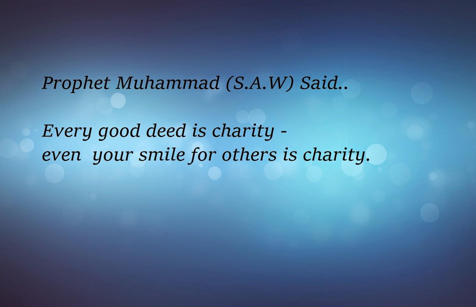 The Morning Charity Hadith