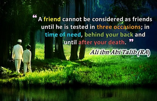 friends hadith hazrath ali RA