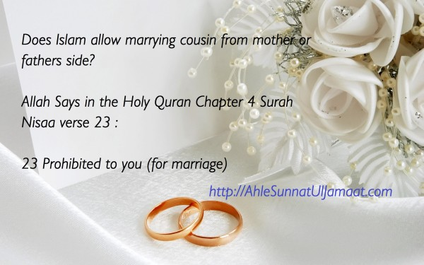 According to Islam who we can marry among relatives?