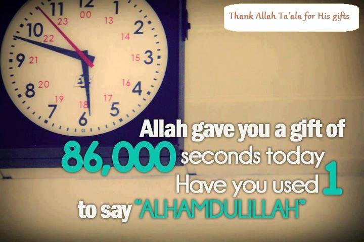 Saying Alhamdulillah