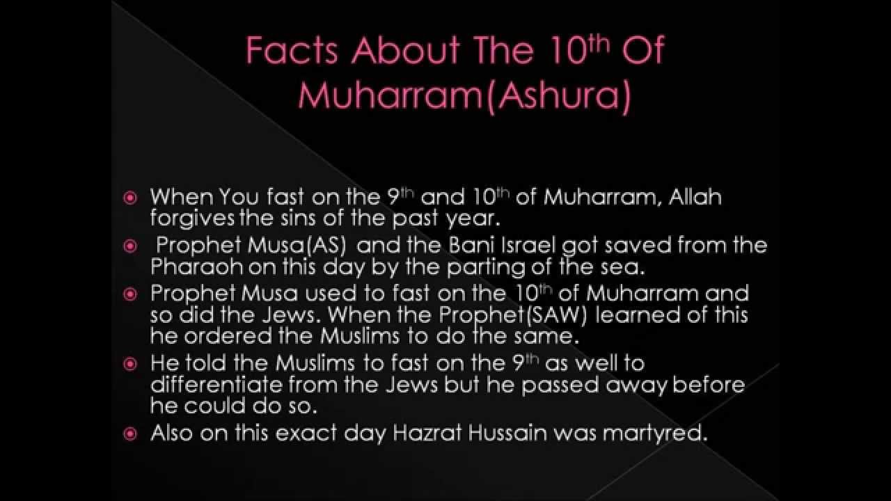 What should we do on the 10th of Muharram?