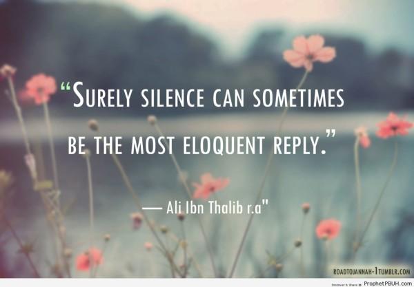 silence in islam hadith